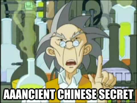 ancient chinese secret.