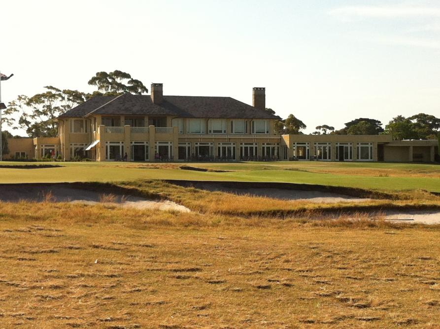 Clubhouse overlooking 18th East.